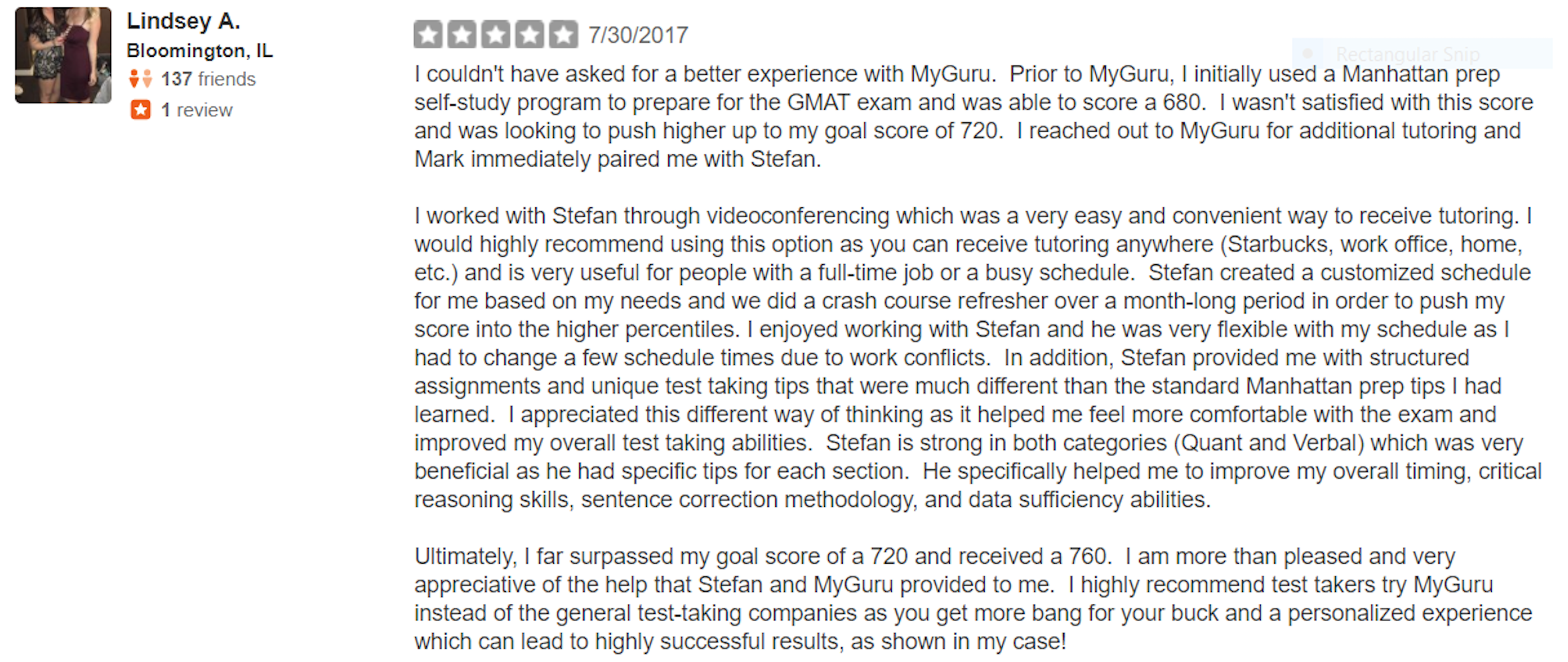 GMAT Yelp Review - 680 to a 760 in 4 weeks