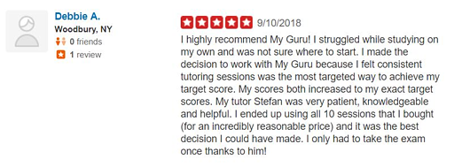 Highly rated online GRE tutoring.